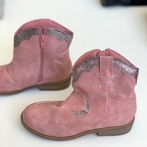 Girls pink cowboy boots
